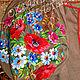 """Платья ручной работы. Вышитое льняное платье """"Полевые цветы""""  Бохо. Индивидуальная вышиваночка. (oksanetta). Интернет-магазин Ярмарка Мастеров."""