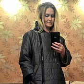 Dresses handmade. Livemaster - original item Coat of raincoat fabric jacket, winter