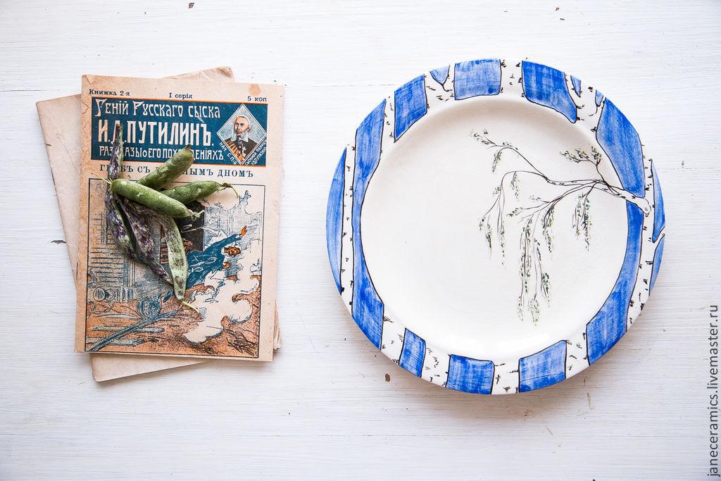 Birch's retro. A plate of food, ceramics, Plates, Zhukovsky,  Фото №1