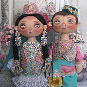 Куклы и игрушки ручной работы. Ярмарка Мастеров - ручная работа Пара кукол в национальных татарских костюмах. Handmade.