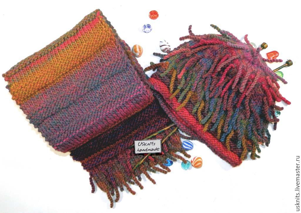 Knitted accessories kit warm, not scratchy, after washing is not deformed.