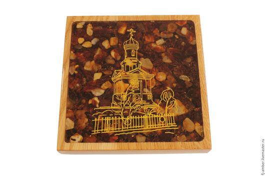 Город ручной работы. Ярмарка Мастеров - ручная работа. Купить Янтарное панно 0004. Handmade. Комбинированный, янтарь натуральный, панно