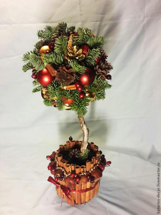 Новый год 2017 ручной работы. Ярмарка Мастеров - ручная работа. Купить Новогоднее дерево. Handmade. Новый Год, корица, ель