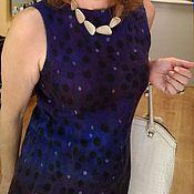 """Одежда ручной работы. Ярмарка Мастеров - ручная работа Валяние.Платье """" Черничное"""". Handmade."""