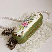 handmade. Livemaster - original item Painted porcelain. Box