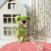 Куклы и игрушки ручной работы. Ярмарка Мастеров - ручная работа Игрушка вязаная собака- символ 2018 года. Handmade.