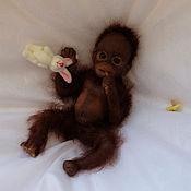 Куклы Reborn ручной работы. Ярмарка Мастеров - ручная работа Полностью силиконовый мини бэби-орангутан. Handmade.