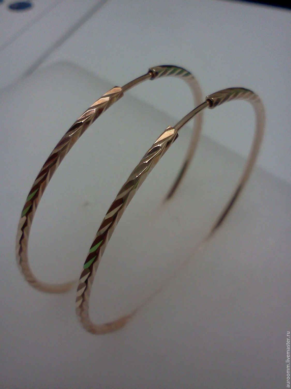 серьги кольцами золотые фото цена