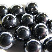 Материалы для творчества handmade. Livemaster - original item Hematite 10 mm, smooth ball. Handmade.