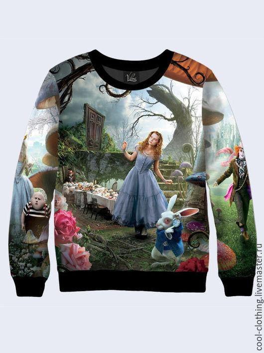Кофты и свитера ручной работы. Ярмарка Мастеров - ручная работа. Купить Женская кофта Алиса в стране чудес, Льюис Кэролл. Handmade.