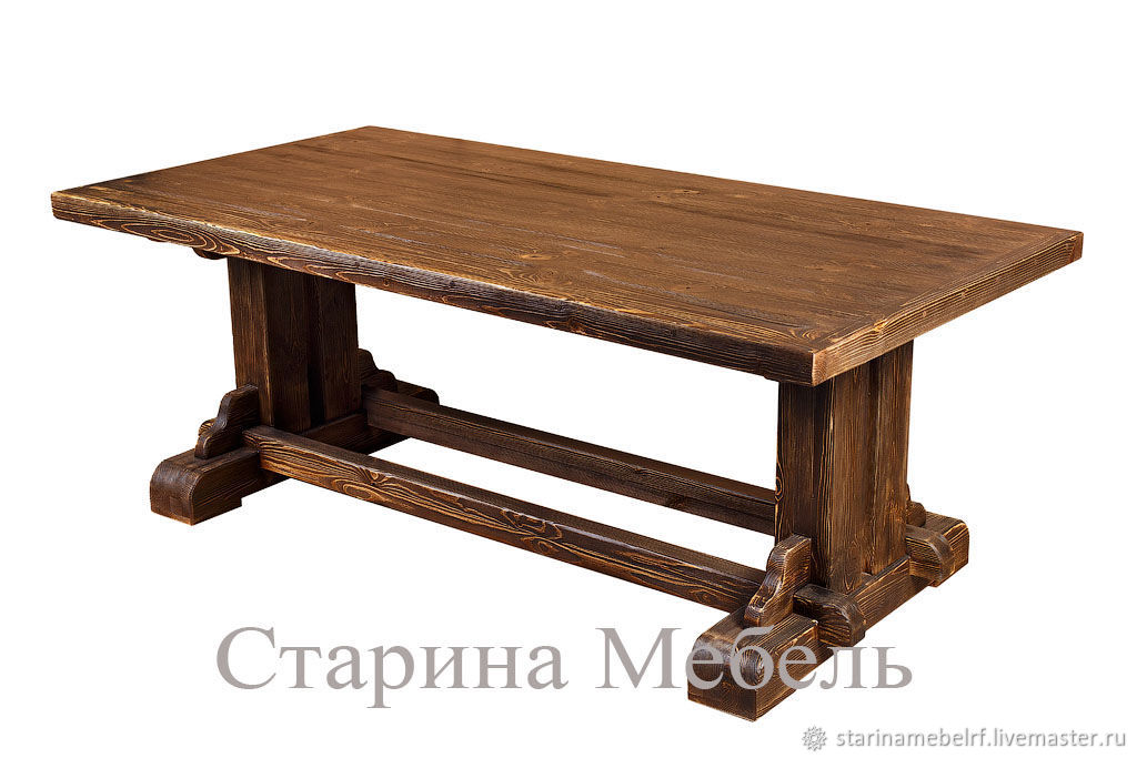 стол из дерева под старину