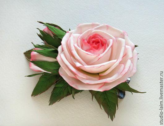 роза, заколка с цветами, красивые заколки купить, заколки с розами, украшение для волос, цветы в прическу, мастер Любовь Амосова