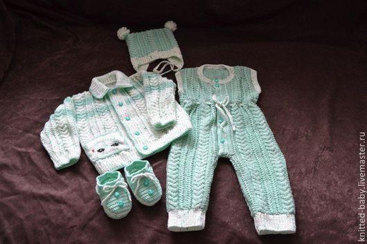 Одежда унисекс ручной работы. Ярмарка Мастеров - ручная работа. Купить Комплект  для новорожденных Капитошка. Handmade. Вязание для детей, акрил