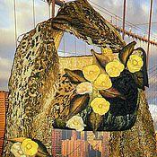 """Сумки и аксессуары ручной работы. Ярмарка Мастеров - ручная работа Комплект """"Леопард в цветах"""". Handmade."""
