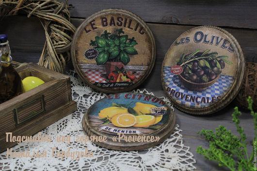 """Кухня ручной работы. Ярмарка Мастеров - ручная работа. Купить Подставки под горячее """"Provence"""". Handmade. Комбинированный, сервировка стола"""