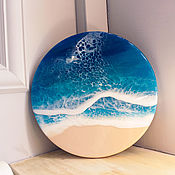 Картины ручной работы. Ярмарка Мастеров - ручная работа Персональное море 30 см- эпоксидная смола. Handmade.