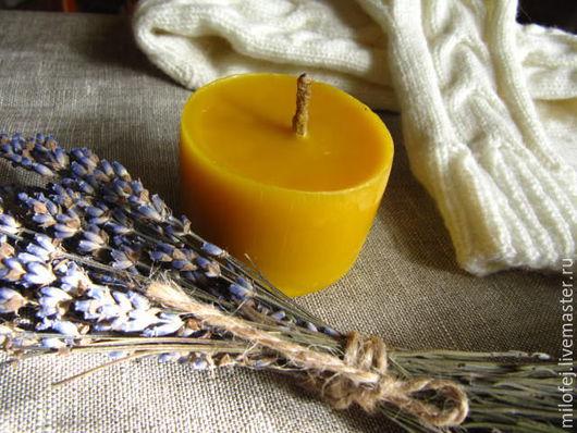 свеча из натурального пчелиного воска, натуральная свеча