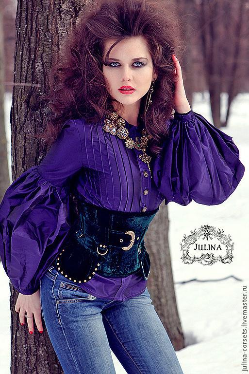 Фиолетовая блузка доставка