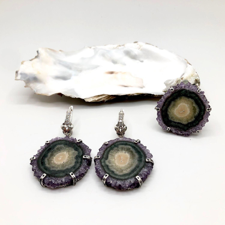 Set with cactus amethyst b, Jewelry Sets, Feodosia,  Фото №1