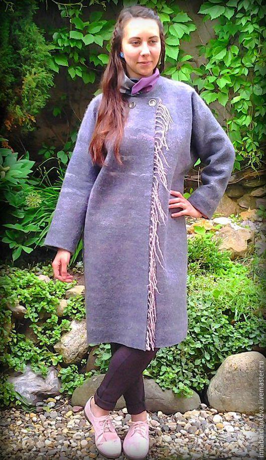 """Верхняя одежда ручной работы. Ярмарка Мастеров - ручная работа. Купить Легкое  пальто """"Июньская ночь """". Handmade. Серый"""