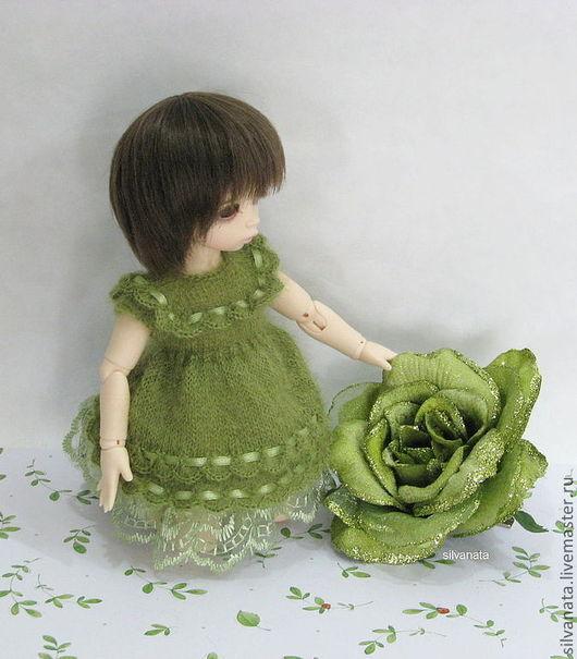 Одежда для кукол ручной работы. Ярмарка Мастеров - ручная работа. Купить Платья для кукол БЖД ( LittleFee). Handmade. Оливковый