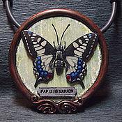 """Украшения ручной работы. Ярмарка Мастеров - ручная работа Кулон из полимерной глины """"Papilio Mahaon"""". Handmade."""