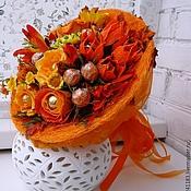 Цветы и флористика ручной работы. Ярмарка Мастеров - ручная работа Осенний блюз Букет из конфет. Handmade.