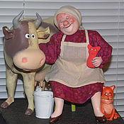 """Куклы и игрушки ручной работы. Ярмарка Мастеров - ручная работа """"Телец"""" (проект """"Знаки Зодиака в бабках"""" по рисункам Ольги Громовой). Handmade."""