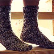Аксессуары ручной работы. Ярмарка Мастеров - ручная работа Теплые вязанные носочки. Handmade.