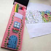 Канцелярские товары ручной работы. Ярмарка Мастеров - ручная работа Пенал для ручек, карандашей. Handmade.