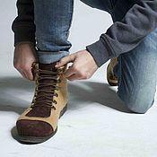 """Обувь ручной работы. Ярмарка Мастеров - ручная работа Валяные ботинки """"Frant"""". Handmade."""
