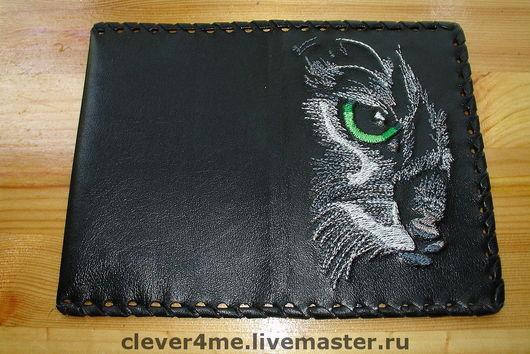 Обложка на записную книжку. Моя авторская обработка в вышивку рисунка Ирины Нарышкиной. (Irbis= Ирбис).