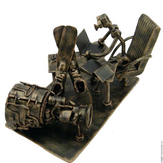 Миниатюрные модели ручной работы. Ярмарка Мастеров - ручная работа. Купить Конструктор-авиатор. Handmade. Скульптурная миниатюра, куклы и игрушки
