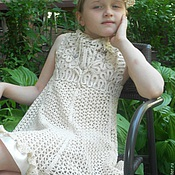 Работы для детей, ручной работы. Ярмарка Мастеров - ручная работа Платье для девочки  НЕЖНОЕ. Handmade.