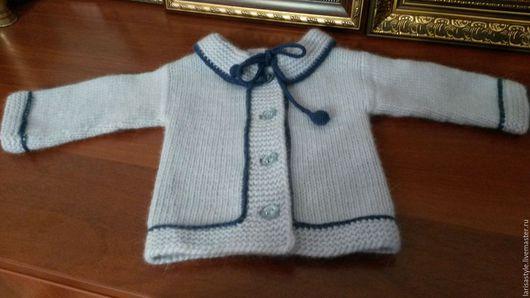 Одежда для девочек, ручной работы. Ярмарка Мастеров - ручная работа. Купить Детская вязаная кофта для малышки 3-6 месяцев меринос/ангора. Handmade.