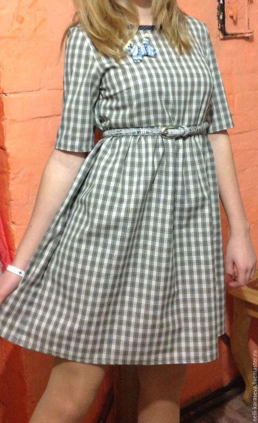 Платья ручной работы. Ярмарка Мастеров - ручная работа. Купить Платье Клеточка. Handmade. Комбинированный