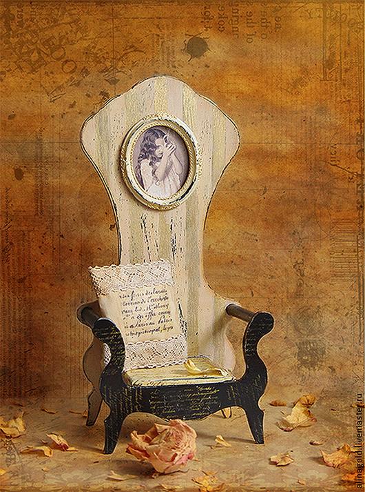 """Детская ручной работы. Ярмарка Мастеров - ручная работа. Купить Трон для мишки ,куклы  """"ALICE"""".. Handmade. Кремовый, кресло"""