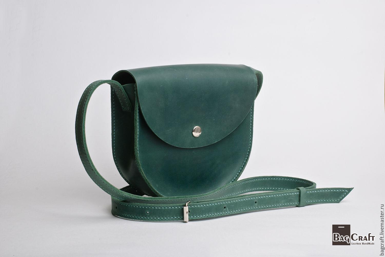 f2a474e87221 ручной работы. Ярмарка Мастеров - ручная работа. Купить Женская кожаная  сумка, зеленая, ...