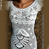 """Одежда ручной работы. Ярмарка Мастеров - ручная работа платье вязаное ,кружевное """"Ах,эта белая сирень"""". Handmade."""