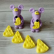 Косметика ручной работы handmade. Livemaster - original item Soap Mouse with cheese. Handmade.