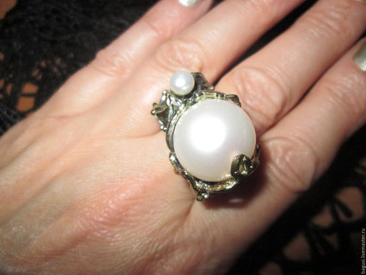 Кольца ручной работы. Ярмарка Мастеров - ручная работа. Купить 19 Кольцо Мать и дитя. Handmade. Белый, кольцо в подарок