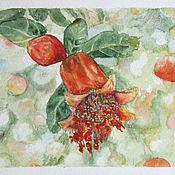 Картины и панно handmade. Livemaster - original item Grenades, bloom, watercolor. Handmade.