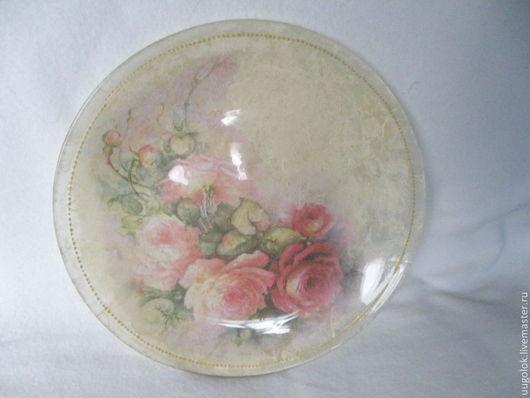 Декоративная посуда ручной работы. Ярмарка Мастеров - ручная работа. Купить Тарелочки с нежными цветами. Handmade. Тарелка, бледно-розовый
