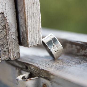 Украшения ручной работы. Ярмарка Мастеров - ручная работа серебрянное кольцо Большая Медведица. Handmade.