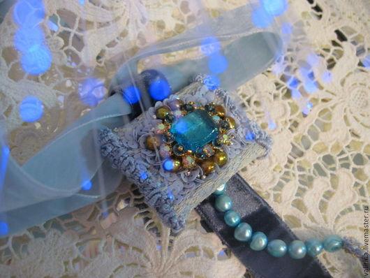 """Кулоны, подвески ручной работы. Ярмарка Мастеров - ручная работа. Купить Подвеска """"La marquise des anges"""". Handmade. Голубой"""