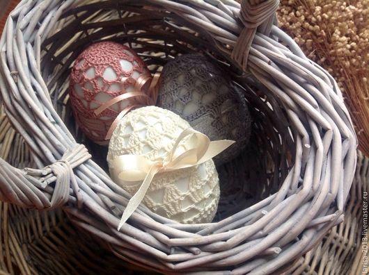 Подарки на Пасху ручной работы. Ярмарка Мастеров - ручная работа. Купить Набор пасхальных яиц. Handmade. Молочный, для дома и интерьера
