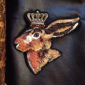 """Украшения ручной работы. Ярмарка Мастеров - ручная работа Брошь """"Король-заяц"""". Handmade."""