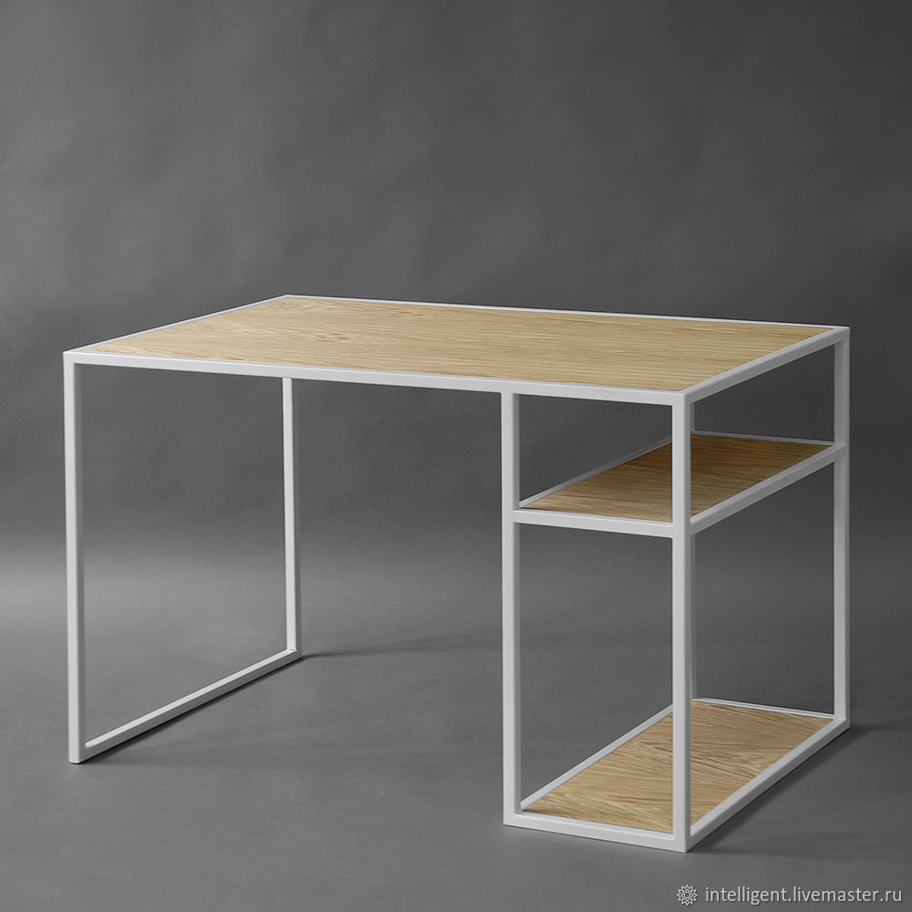 Мебель ручной работы. Ярмарка Мастеров - ручная работа. Купить Рабочий стол Romero white светлый дуб. Handmade. Минимализм