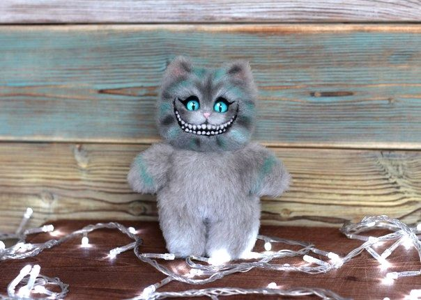 Cheshire fur cat, Stuffed Toys, Moscow,  Фото №1