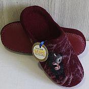 """Обувь ручной работы. Ярмарка Мастеров - ручная работа Валяные тапочки """"Ежик в тумане"""". Handmade."""